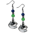 Vancouver Canucks® Fan Bead Dangle Earrings